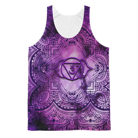 Cosmic Purple 3rd Eye Chakra Unisex Classic Fit Tank Top