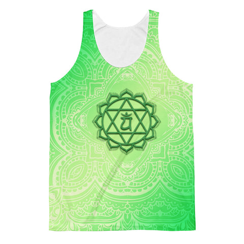 Fourth Green Anahata Heart Chakra  Unisex Classic Fit Tank Top