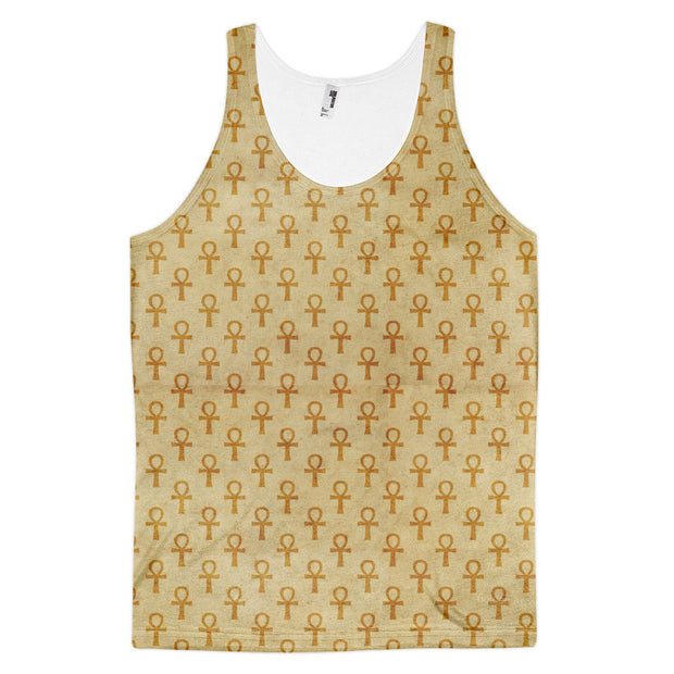 Rustic African Egyptian Ankh Clothing Ankh Tank Top