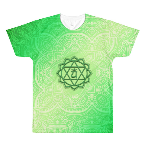 Fourth Green Anahata Heart Chakra Men's Crewneck T-shirt