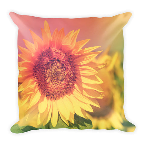 Summer Sunflower - Square Pillow