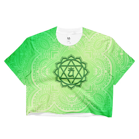 Fourth Green Anahata Heart Chakra  Ladies Crop Top