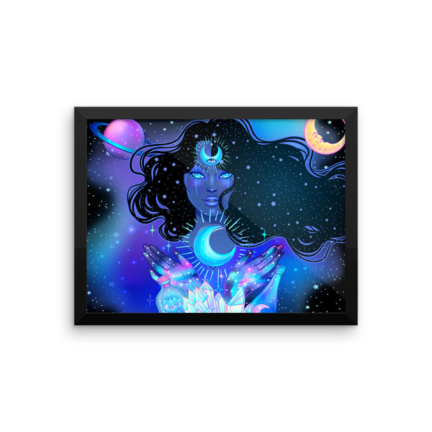Nocturnal Goddess Framed photo paper poster