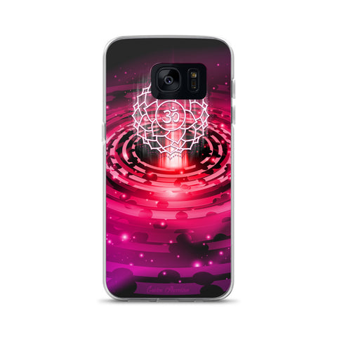 hot pink crown chakra iphone x case custom design