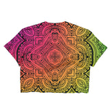Rainbow Mandala - Ladies Crop Top