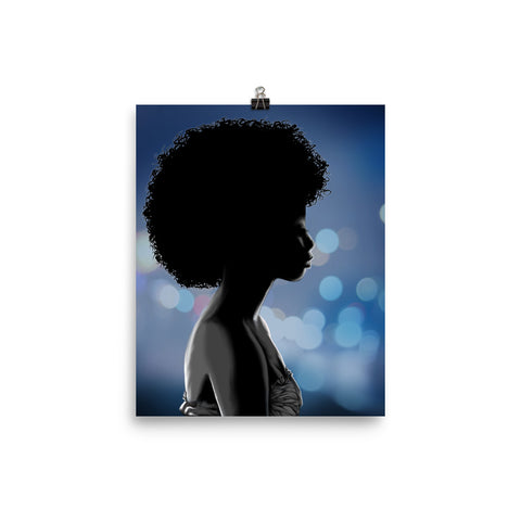 Blue Afrodisiac Photo paper poster