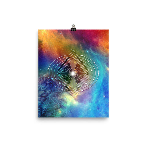 Space Rainbow with Sacred Geometry