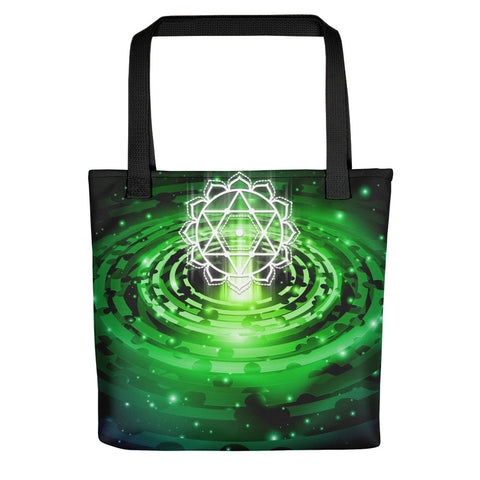 Cosmic Green Heart Chakra Tote bag - v2.0