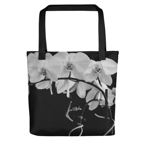 Black and White Photography - Orchid Tote bag