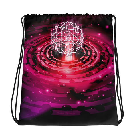 Crown Chakra Drawstring bag