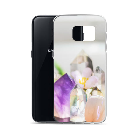 Flowers and Crystals Photography Samsung Case