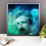 Tribute to Tesla - Framed photo paper poster