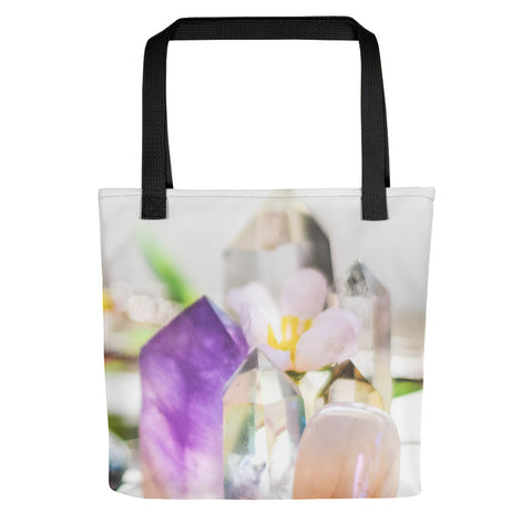 Flowers and Crystals Photography Tote bag