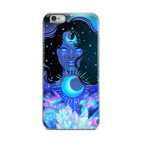Nocturnal Goddess Cosmic iPhone Case