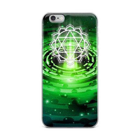 Cosmic Green Heart Chakra iPhone Case - Multiple Models