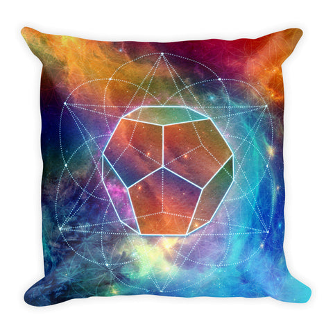 Geometric Space - Square Pillow