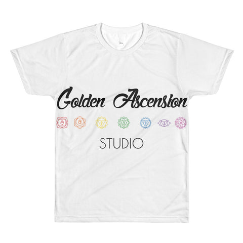 golden ascension studio brand t shirt, 7 chakra