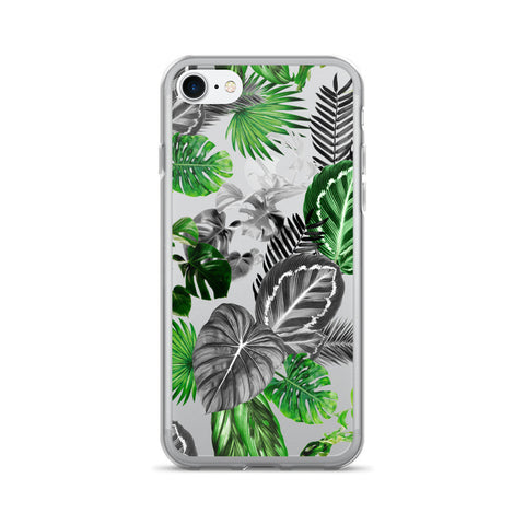 Black and Green Tropical Island Rainforest Safari Jungle iPhone 7/7 Plus Case