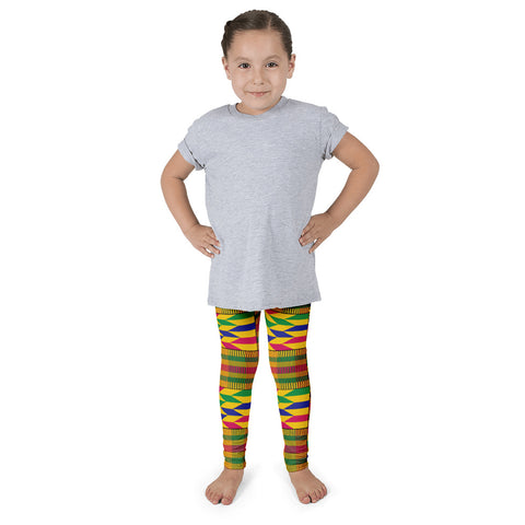 African Kente Pattern Kid's leggings - Style 2
