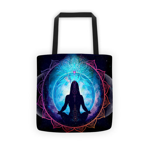 Divine Feminine double Moon Reusable Tote bag
