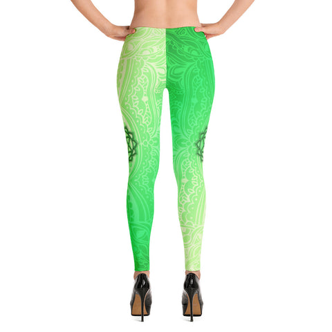 Fourth Green Anahata Heart Chakra Leggings