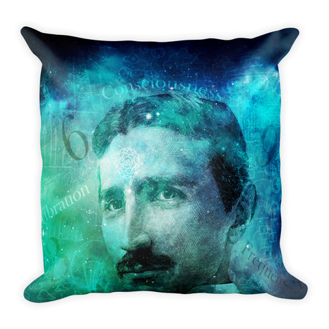 Tribute to Tesla Square Pillow