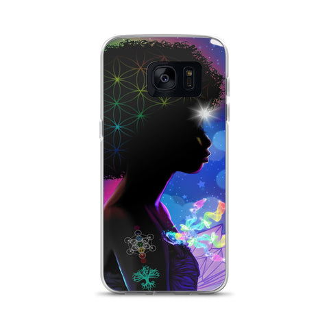 Cosmic Afro Woman Samsung Case