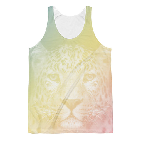 Colorful Cheeta Classic Fit Tank Top