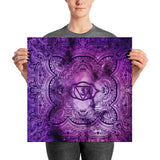 Cosmic Purple 3rd Eye Chakra Poster