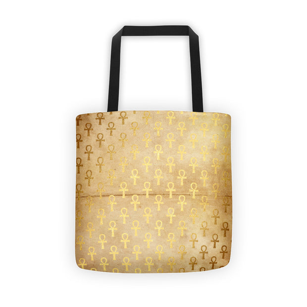 Golden African Egyptian Ankh Symbol Tote Bag