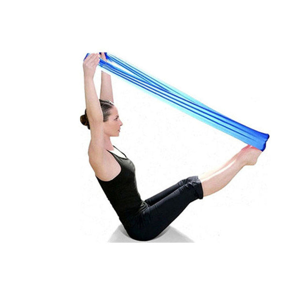 Pilates Yoga Resistance Bands Aerobics Stretch Tensile Elastic Band - Free Shipping