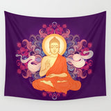 Purple Buddha Meditation Tapestry