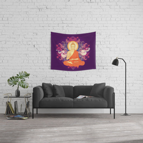 Purple Buddha Meditation Tapestry - 3 Sizes available