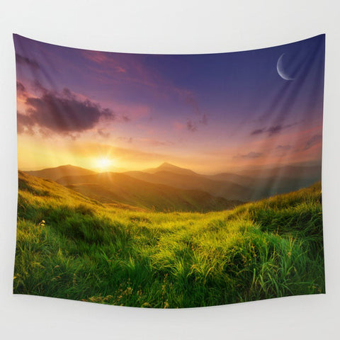 Mountain Sunrise Tapestry - 3 sizes available