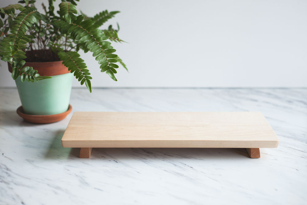 Footed Maple Wood Serving Board