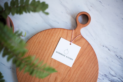 Round Cherry Wood Cutting Board