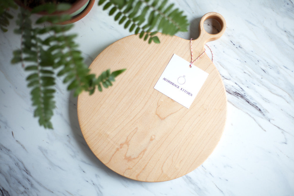 Round Maple Wood Cutting Board