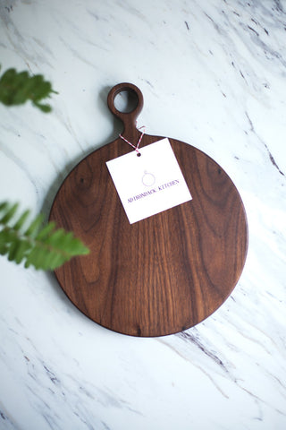 Round Walnut Wood Cutting Board