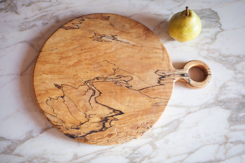 Round Spalted Maple Cutting Board