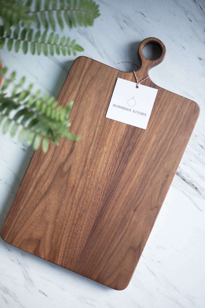"Custom Size -  20"" x 10"" Wide Server Cutting Board with Handle"