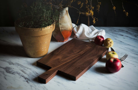 Wide Wedged Walnut Cutting • Serving • Charcuterie Board - FREE CARE KIT