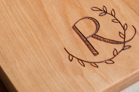 Monogram, Custom Engraved, Laser Engraved, Personalized Board -(Board Not Included)