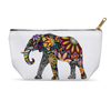 Floral Elephant Accessory Pouch