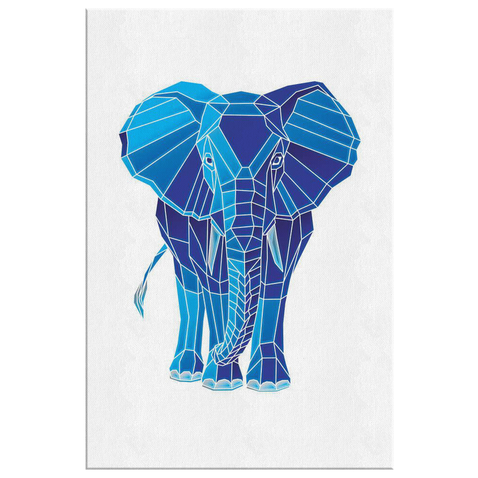 Blue Diamond Elephant Wall Art