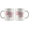 Baby Elephant Mug with Hearts