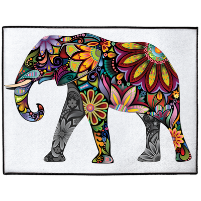 Colorful Elephant Indoor/Outdoor Floor Mats