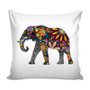 Colorful Elephant Art Pillow Case