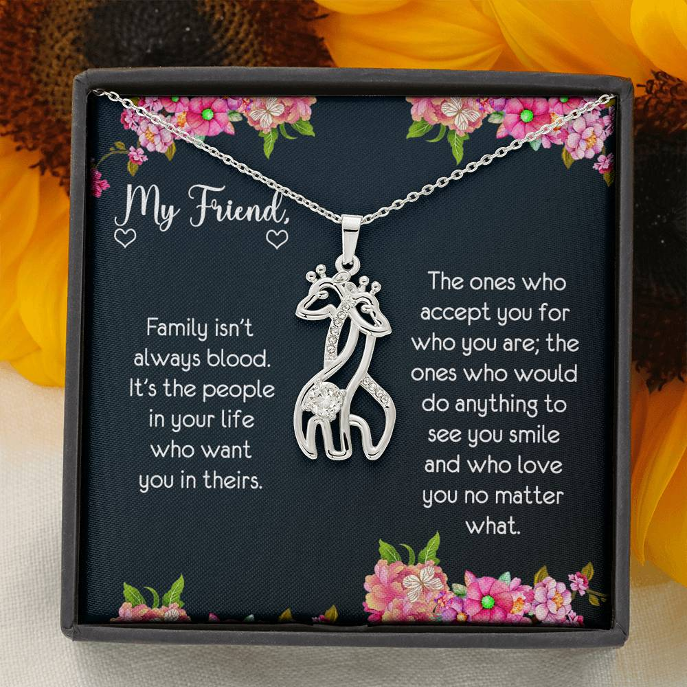 Giraffe Friendship Necklace