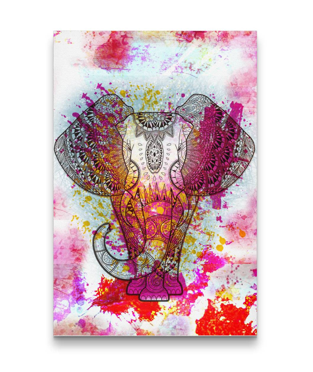 Limited Edition Elephant Canvas Art