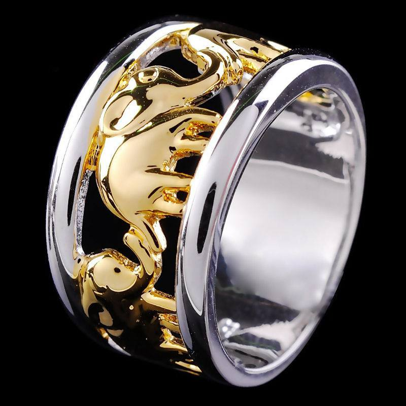 Ring - Gold-Plated Elephant Ring